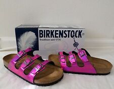 New Birkenstock Women's Florida Soft Footbed Sandals Mirror Pink Size 40 9 9.5