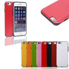 Hybrid Rugged Leather + TPU Rubber Gel Cover Case for Apple iPhone 6 6s Plus