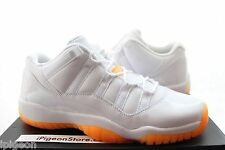 Nike Air Jordan 11 Retro XI Low Citrus Orange White 7c-7.5y GS PS TD 580521 139