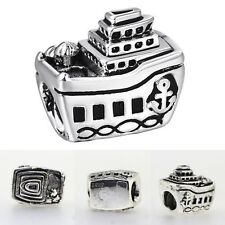 European Charms New Pirate Ship Beads Fit 925 Sterling Silver Bracelet Chain 3mm