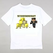 SKYDOESMINECRAFT Youtube Fans T-shirt Girls Boys Gaming 5 - 14 years LIKE A BOSS