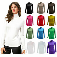 NEUF FEMMES POLO COL ROULÉ EXTENSIBLE COL MONTANT MANCHES LONGUES PULL 8-26