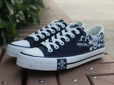 mens skulls graffiti totem lace up canvas shoes running sneakers shoes 2015