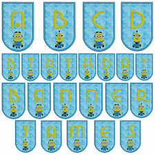 In-The-Hoop Minion Banner * Alphabet * Machine Applique Embroidery Patterns