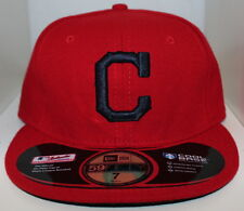MLB Cleveland Indians New Era On Field 59Fifty Cap w/ Navy Blue C 59Fifty Hat
