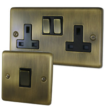 Antique Brass Sockets and Switches - Full Range