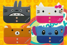 Cute cartoon bear stitch Chain Bag Soft Silicone Case cover for iphone6 plus 5S