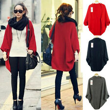 Women Long Sleeve Knitted Cardigan Coat Jacket Outwear Casual Loose Sweater