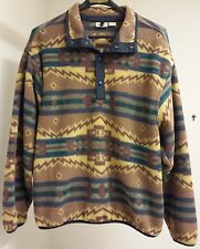Vintage NWT Woolrich Snap T Rare Native Aztec Indian Blanket Polartech Large