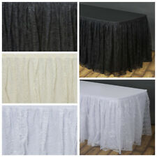 "17 feet x 29"" LACE Banquet TABLE SKIRT TradeShow Wedding Party Catering SALE"