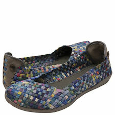 Women's Shoes Bernie Mev. Catwalk Casual Slip On Flats Multi Camo *New*