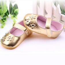 Baby Kids Girls Flower Princess Mary Janes Soft Sole Anti-slip Toddler Shoes B66