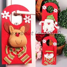 Santa Claus Snowman Elk Household Christmas Ornaments Door Handle Hanger Knocker