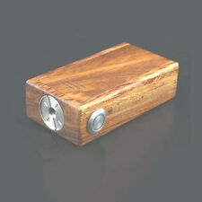 Wood Box Mod (APC)  DUAL BATTERY WITH MOFSET CHIP  VS TESLA INVADER II