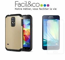 Coque Armor Etui ANTICHOC Galaxy S4 S5 Mini S6 Edge A3 A5 A7 Alpha Verre Trempé