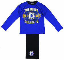 Boys Pyjamas Cotton Pj's CHELSEA FC The Blues 1905 Official Long 4 to 12 Years