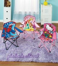 Licensed Kids' Chairs, Portable Polyester And Steel For Ages 4 And Up