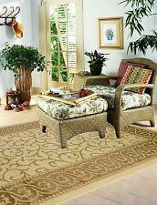 Contemporary 3 Pcs Indoor / Outdoor rugs with runner and mat patio carpet