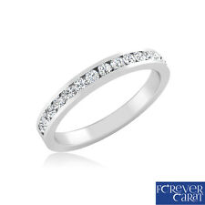 0.28ct Certified Natural Round Diamond Ring Band 925 Sterling Silver Ring Band