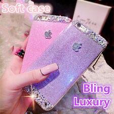 SOFT TPU BLING CRYSTAL DIAMONDS PHONE CASE SKIN FOR APPLE IPHONE 4S 5 5S 6 PLUS