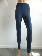 NEW EX-CHAINSTORE LADIES LEGGING/TROUSERS STRIPE PANELED BLACK OR BLUE UK 8-20