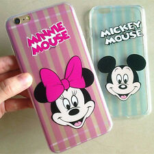 Cute cartoon Stripe minnie mickey mouse soft case cover for iphone 6 6S plus 5S