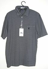 Johnnie O. Men's Wilshire 4-Button SS Micro Striped Pocket Polo Cactus Twilight