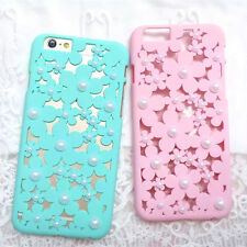 New hot cute Candy lace Pearl hollow hard Case Cover For apple iphone 6 6S plus