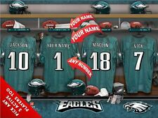 "Officially Licensed NFL All Teams Locker Room Prints 11""x14"" Frame Optional"