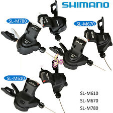 Shimano DEORE/M610 SLX/M670 XT/M780 Bicycle Shifters/Shift Lever Set 2/3x10Speed