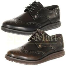 Mens Firetrap Lace Up Brogues Tarnished Shine Panel Perforated Casual Shoes Size