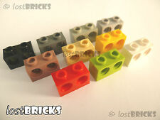 8 x LEGO Technic Bricks 1x2 with Holes (Part 32000) +SELECT COLOUR +FREE POSTAGE