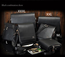 Kangaroo Fashion Mens Leather Shoulder Bag Messenger Bag Briefcase Backpacks