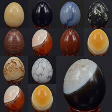 New Wholesale Natural Stone Gems Crystal Reiki Healing 50MM Sphere Egg W/Stand