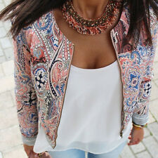 Fashion Women's Floral Slim Casual Summer Blazer Suit Jacket Coat Outerwear