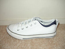 Converse Chuck Taylor All Star Street OX White Leather Kids Youth Shoes NEW
