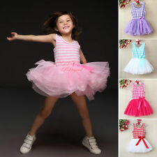 Baby Girls Toddlers Kids Princess Tulle Dresses Pageant Party Dress Tutu Skirt