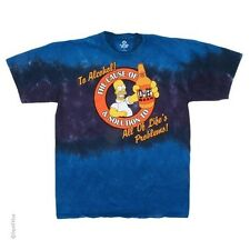 The Simpsons Homer & Duff Beer Tie Dye T-Shirt (Licensed) - Adult Size NEW