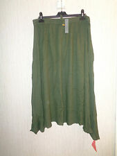 BNWT Ladies South Various Size Green Crinkle Cut Stretch Waist Maxi Skirt RRP£27