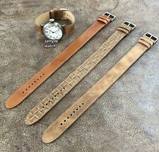 Vintage Military Style Trench Watch Wristwatch Strap fit size 16/18/20mm #0026