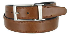 "Nautica - Mens Leather Double Stitched Reversible Belt, 1-3/8"" Wide"