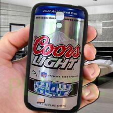 coors light logo can brew beer samsung galaxy S 3 4 5 6 edge note 2 3 4 case