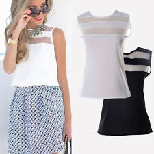 Fashion Womens Summer Vest Top Sleeveless Blouse Casual Tank Tops T-Shirt Lace