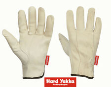 Hard Yakka Gloves Cowhide Rigger Protective Safety Reinforced Fencing Y26081
