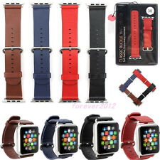 Classic Genuine Leather Watch Band Strap+Buckle for Apple watch iwatch 38mm/42mm