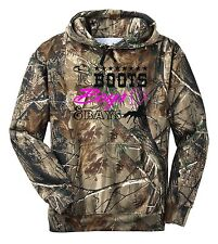 REALTREE CAMO BOOTS BOYS & BAYS HORSE JUST RIDE HOODIE SWEAT SHIRT TACK SADDLE
