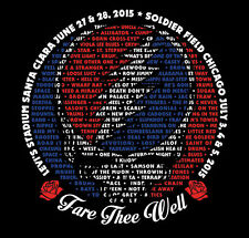 """Fare Thee Well """"Every Song Sung"""" Men's Setlist Grateful Dead T-Shirt - Limited"""