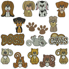 * DOGS & CATS * Machine Embroidery Patterns ** 15 Designs in 3 sizes