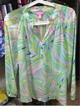 defect Sale-Lilly Pulitzer ELSA TOP -Skye Blue Salute $158 XXS