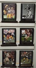 "Officially Licensed NFL Assorted 10"" x 13"" Black Marble & Classic Brown Plaque"